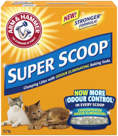 Arm & Hammer Super Scoop Clumping Cat Litter Scented (12.7kg) - Discontinued