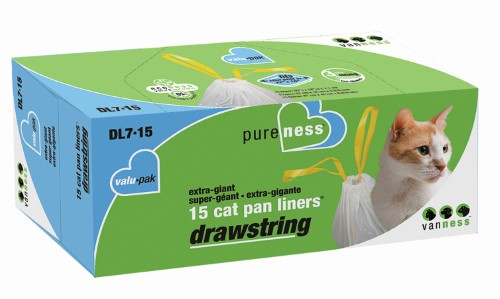 Extra Giant Drawstring Litter Pan Liners (15 pack)