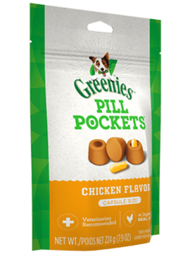 Greenies Chicken Pill Pockets | Dog (7.9oz) Capsule Size