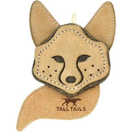 "Tall Tails Natural Leather Fox Chew (4"")"