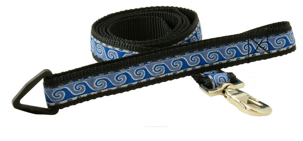 "Silverfoot Dog Leash 6'x1"" -Wave Blue (WA2)"