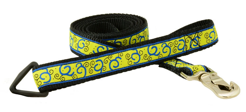 "Silverfoot Dog Leash 6'x1"" - Fiesta Yellow (FT24)"