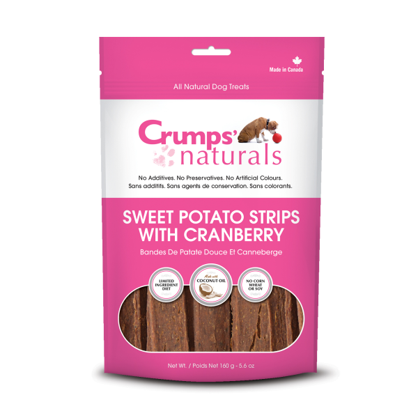 Crumps Naturals Sweet Potato Strips with Cranberry (160g)