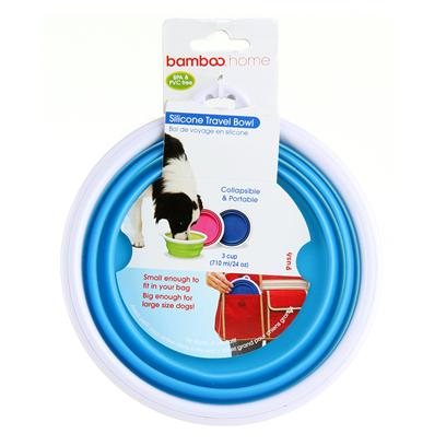 Bamboo Silicone Travel Bowl (24oz)