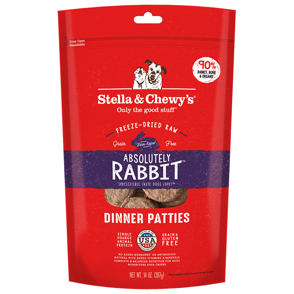 Stella & Chewy's Freeze Dried Dinner Patties - Absolutely Rabbit | Dog (14oz)