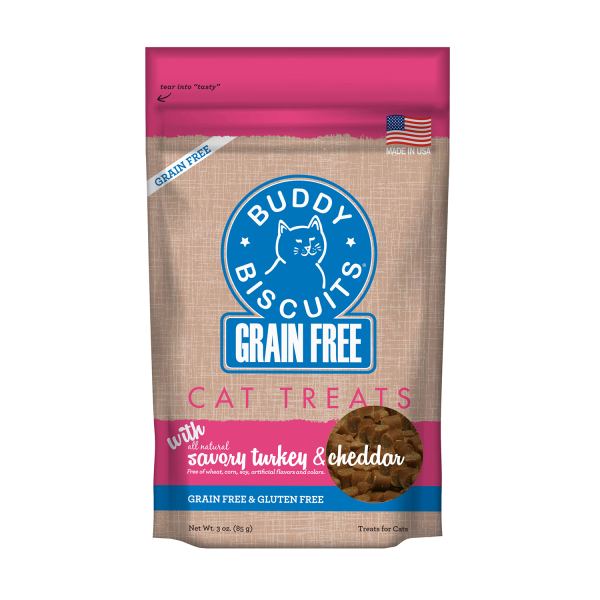 Buddy Biscuit Savory Turkey/Cheddar Cat Treats (3oz)