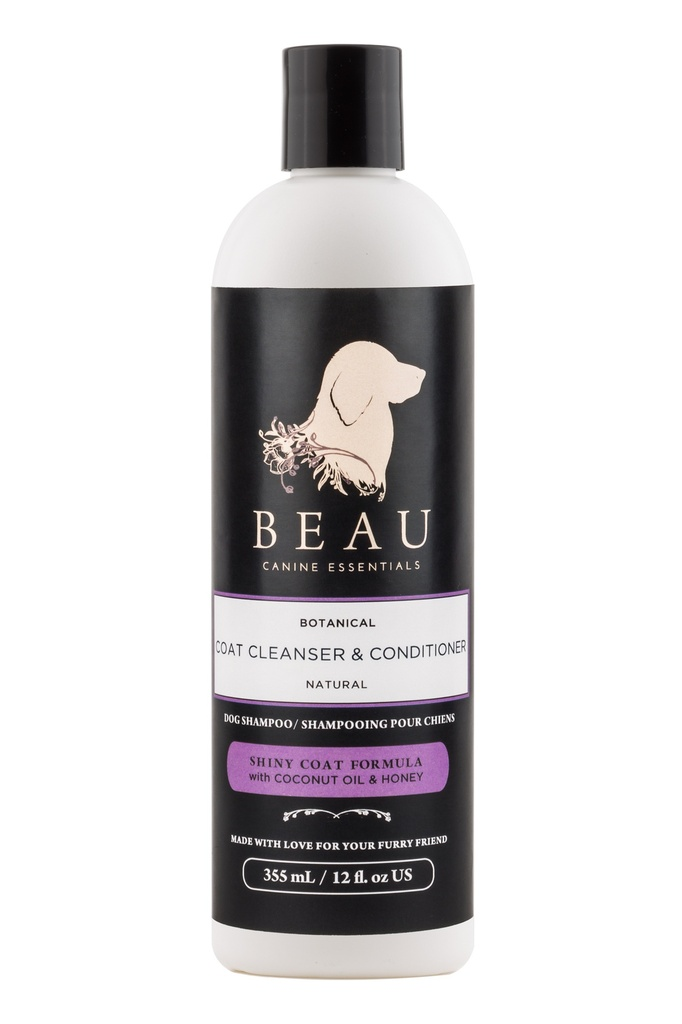 Beau Coat Cleanser & Conditioner - Shiny Coat Formula (12oz)