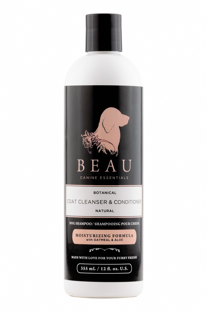 Beau Coat Cleanser & Conditioner - Moisturizing Formula (12oz)