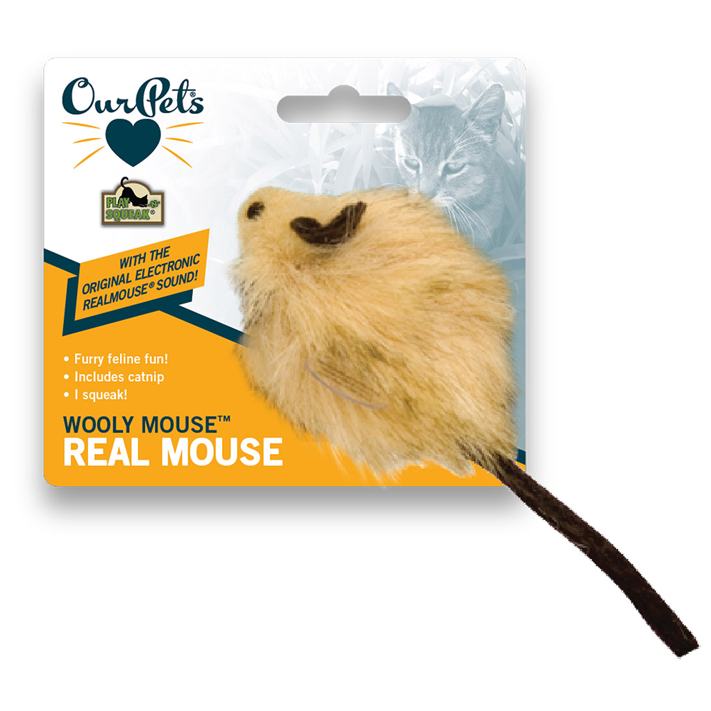 Play N Squeak Wooly Mouse Cat Toy