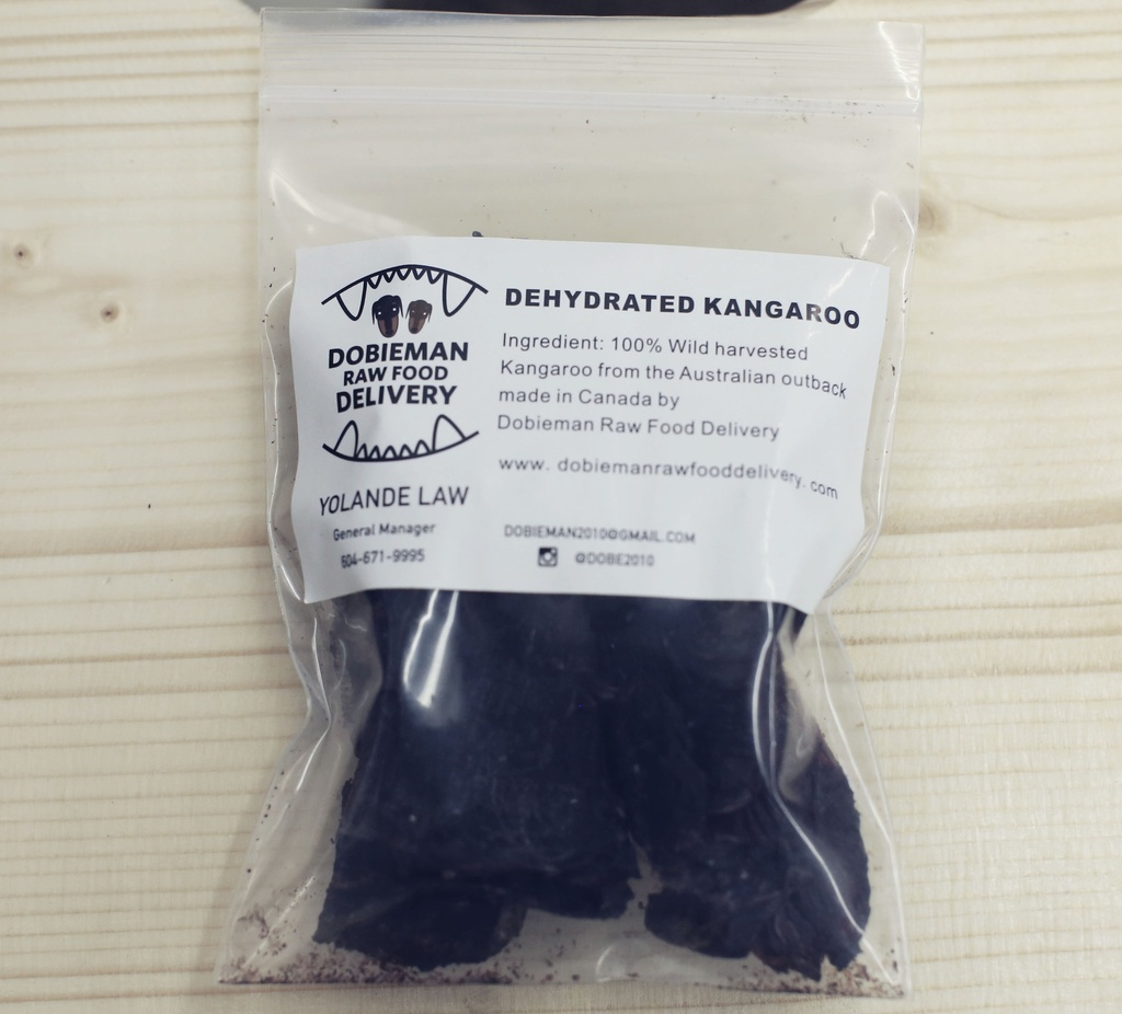 Dobieman Dehydrated Kangaroo Treats (40g)