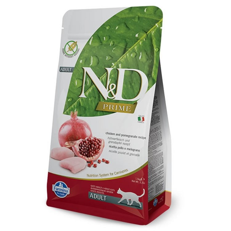Farmina N&D Prime Adult Cat - Chicken & Pomegranate (1.5kg)