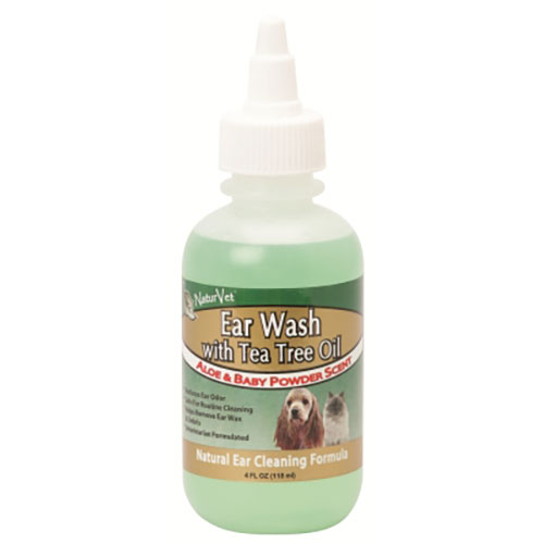 NaturVet Natural Ear Wash with Tea Tree Oil (4oz)