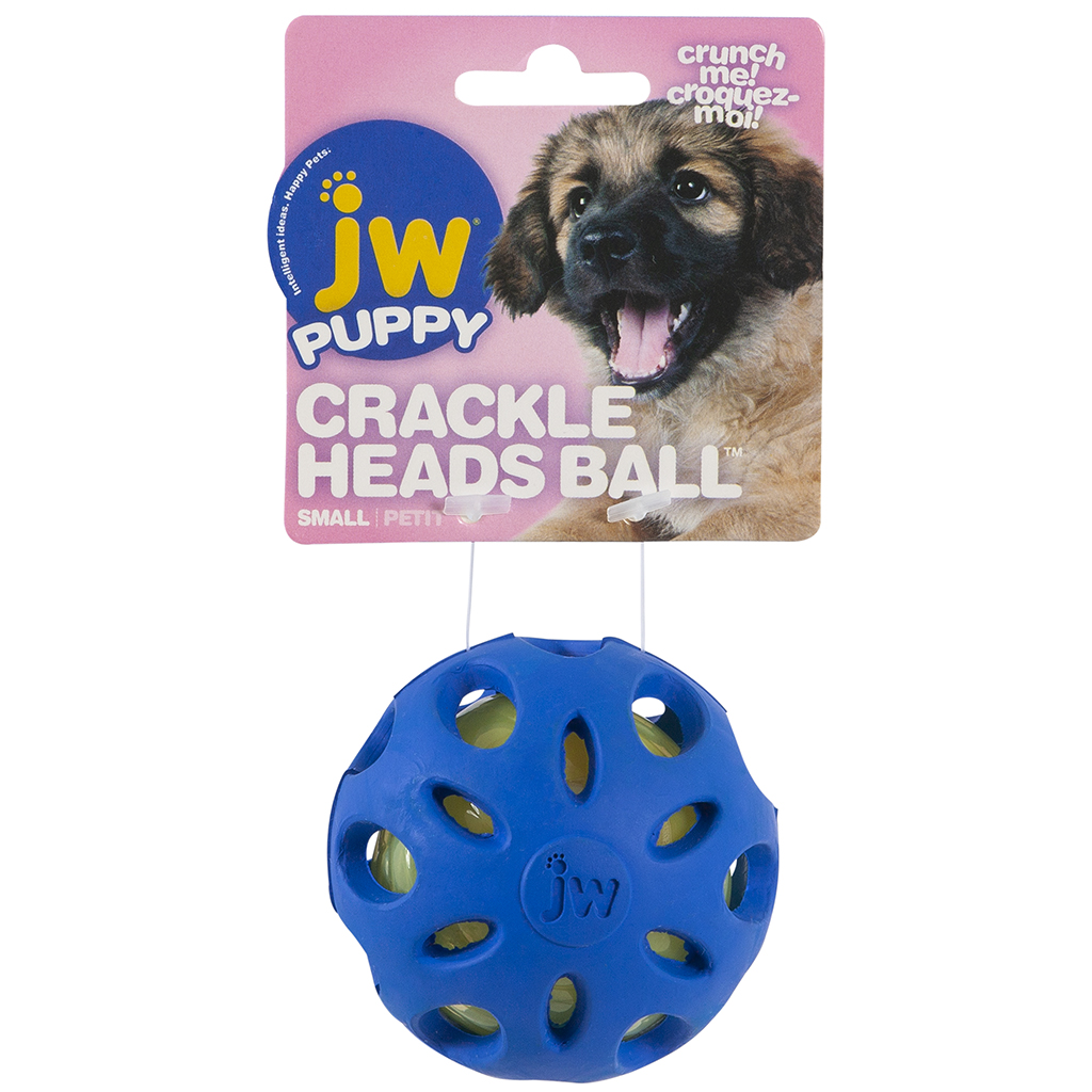 JW Puppy Crackle Heads Crackle Ball