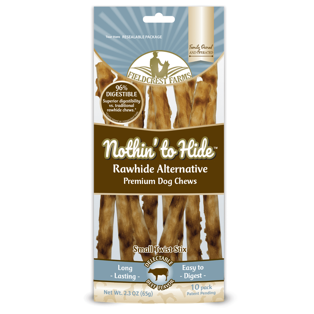 Nothin' to Hide Beef Twist Stix | Rawhide Alternative (10pk)
