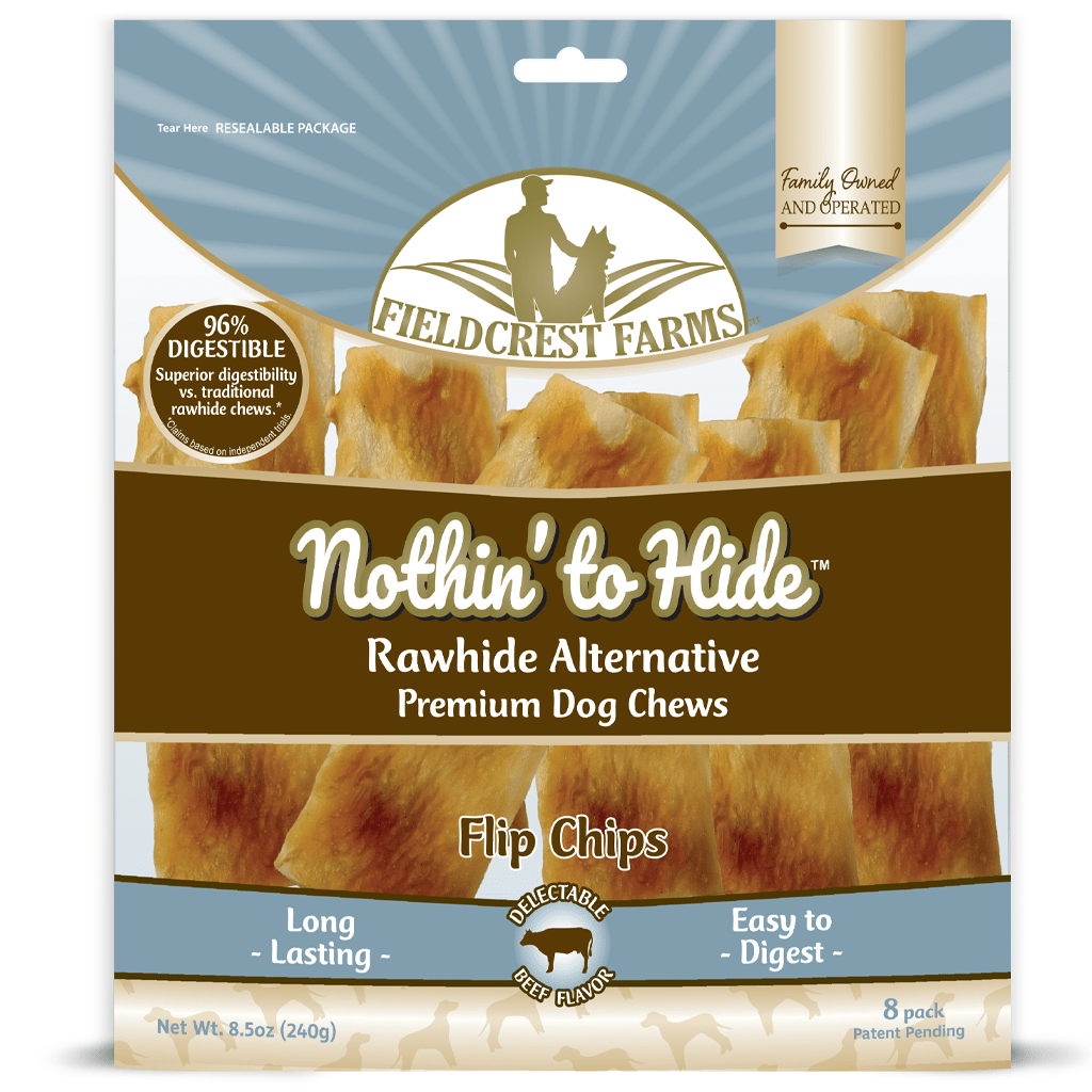Nothin' to Hide Beef Flip Chips | Rawhide Alternative (8pk)