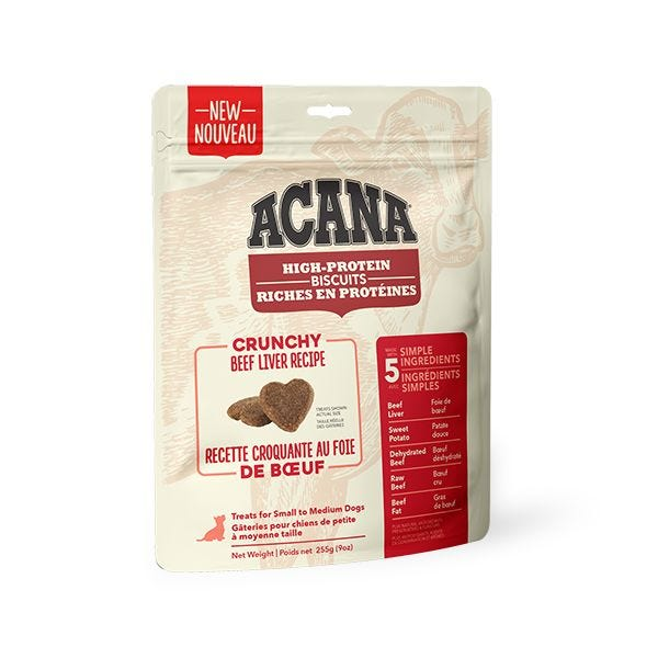Acana High-Protein Beef Liver Biscuits | Dog (255g)