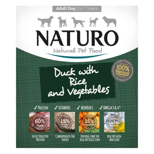 Naturo Duck with Rice & Vegetables | Dog (400g)