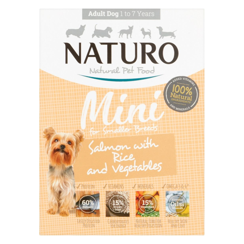 Naturo Mini Salmon with Rice & Vegetables | Dog (150g)