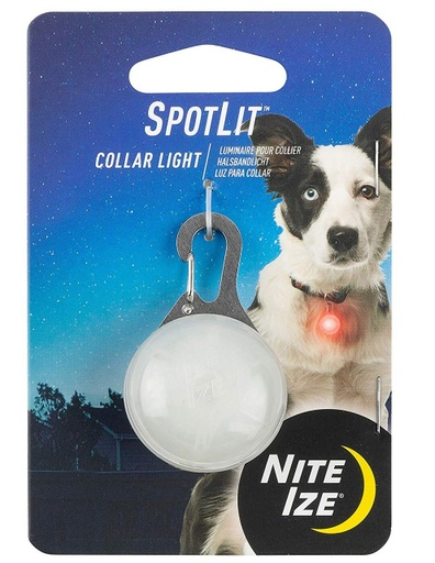 SpotLit LED Flashing Collar Red