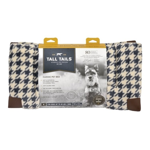 Tall Tails Houndstooth Fleece Crate Beds