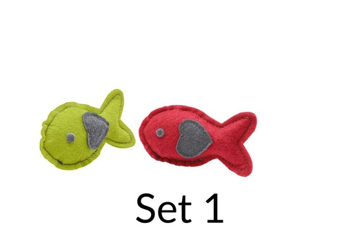 "Katzenspielzeug Fish Red/Yellow ""by Laura"" Cat Toy"