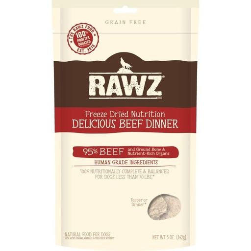 Rawz Freeze Dried Delicious Beef Dinner | Dog