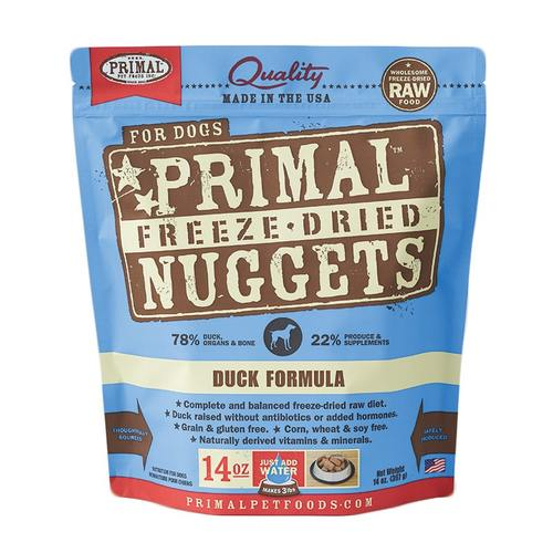 Primal Freeze Dried Nuggets - Duck | Dog (14oz)