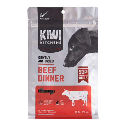 Kiwi Kitchens Gently Air Dried 93% Beef Dinner | Dog