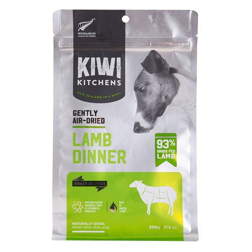 Kiwi Kitchens Gently Air Dried 93% Lamb Dinner | Dog