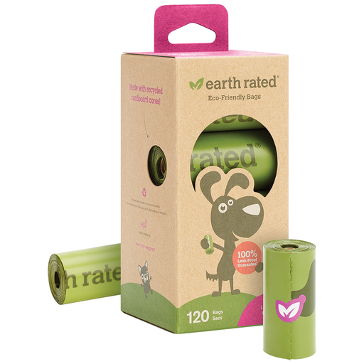 Earth Rated Lavender Scented Poop Bag Rolls (120 bags)