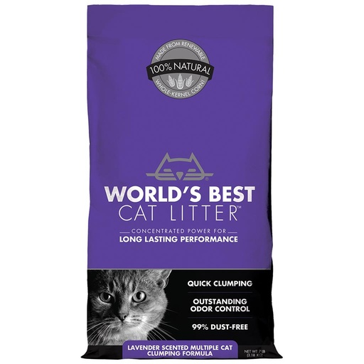 World's Best Cat Litter Lavendar Scented (7Lbs)