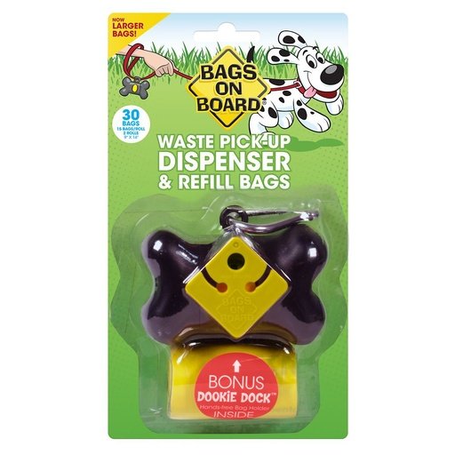 Bag's on Board Black Bone Poop Bag Dispenser